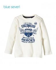 Blue Seven Бяла блуза с надпис за момче