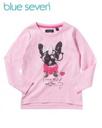 Blue Seven Розова детска блуза с куче