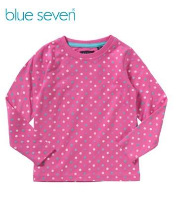 Blue Seven Розова блуза на точки за момиче