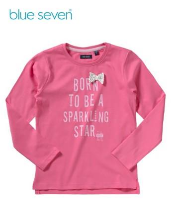 Blue Seven Розова детска блуза с надпис