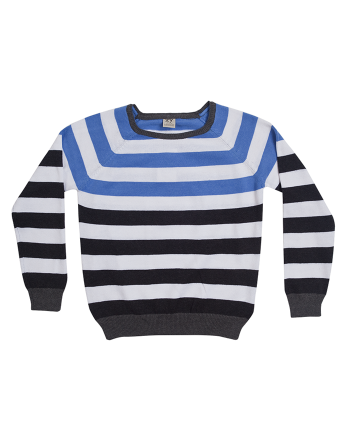 ZIPPY Памучен пуловер в синьо