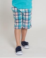 ZIPPY Карирани къси панталони в синьо