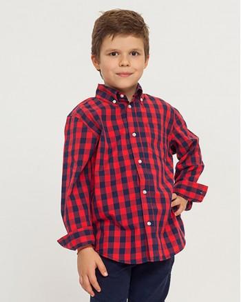 Риза с червени квадрати за момче ZIPPY