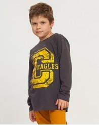 Момчешка блуза с жълта щампа ZIPPY