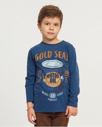 Синя блуза с щампа за момче ZIPPY