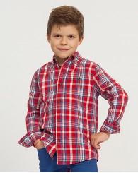 Червена карирана риза за момче ZIPPY