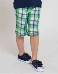 ZIPPY Карирани къси панталони в зелено