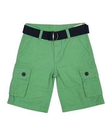 Зелени къси панталони с колан ZIPPY