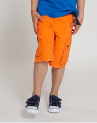 Оранжеви къси панталони с колан ZIPPY