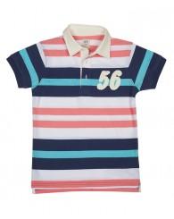 Блуза с яка в тъмно синьо и розово ZIPPY