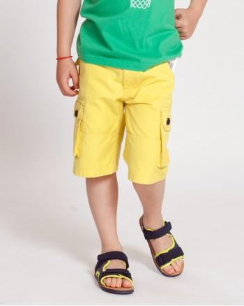 ZIPPY Жълти къси панталони с колан