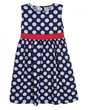 Детска елегантна рокля на точки ZIPPY