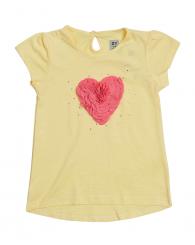 Жълта блуза със сърце ZIPPY