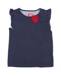Синя блуза на точки с цвете ZIPPY