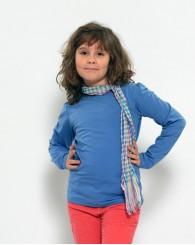 Синя блуза с набор на ръкава ZIPPY