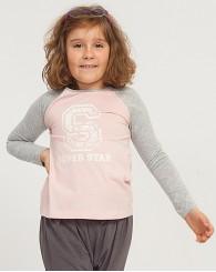 Розова блуза с буква S за момиче ZIPPY
