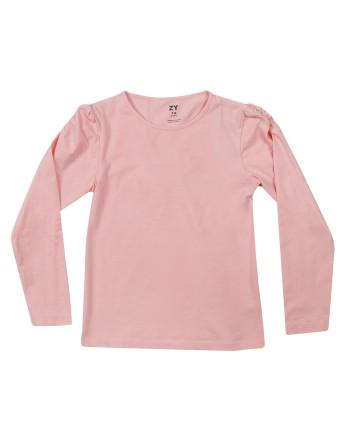 Розова блуза с набор на ръкава ZIPPY