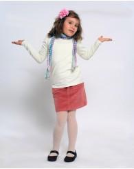 Бяла блуза с набор на ръкава ZIPPY