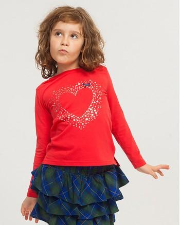 ZIPPY Червена блуза със звездички за момиче