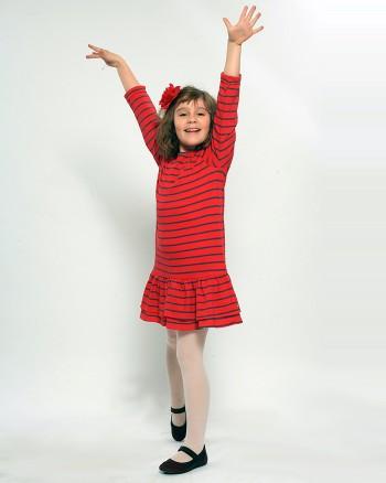 Червена рокля с волани ZIPPY