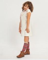 ZIPPY Бяла плетена рокля