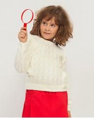 ZIPPY Бял пуловер за момиче