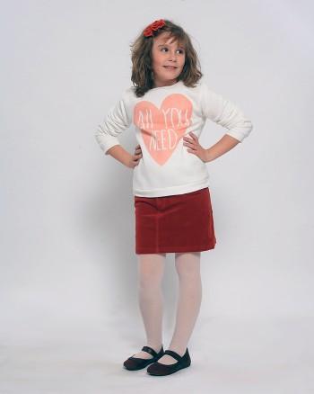 Джинсова пола в керемиден цвят ZIPPY